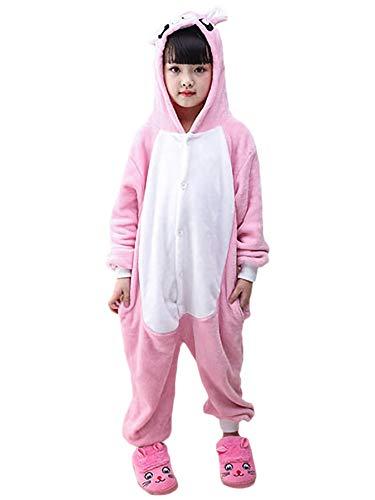 FStory&Winyee Kinder Kostüm Tiere Schlafanzug Jumpsuit Cosplay Mädchen Jungen Schlafoverall Pyjamas Nachtwäsche Einhorn Tierkostüme Karneval Kostüme Verkleidung Party Halloween Weihnachten - Strauß Kostüm Kinder