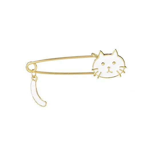 Cdet 1PC Femme Bijoux Broche Epingle en Alliage Forme de queue de chat corsage brooch de décoration Mode élégante Filles Style Nouveau 7.1x1.8cm