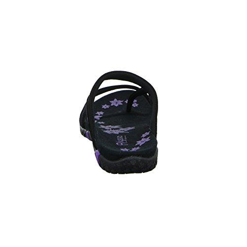 Alyssa RCL008W-5 Damen Pantolette bis 30mm Absatz Schwarz (Schwarz)