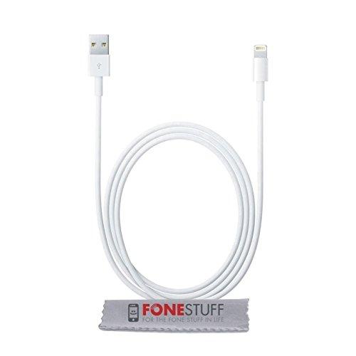Fone-Stuff Echtes Apfel-Ladegerät, Apfel-Blitz USB-Kabel für iPhone X 8 7 6S 6 / Plus 5s 5 se 5C, iPad Pro Luft, iPad Mini 2 3 4, iPod und Mehr- 1m / 3,3ft - weiß