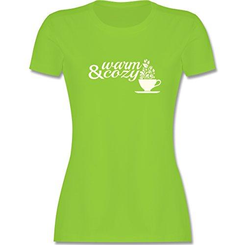 Statement Shirts - Warm & cozy Tee - tailliertes Premium T-Shirt mit Rundhalsausschnitt für Damen Hellgrün