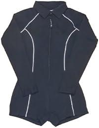 177bc97419c Stingray - Traje de baño UV una pieza manga larga y pantalón corto mujer -  Negro