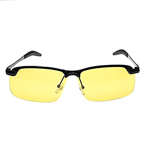 Wchaoen Suleve G02 Black Frame - Nachtfahrschutz - Blendschutzbrille Polarisierte UV400-Sonnenbrille Rainy Driver Safety Werkzeugzubehör