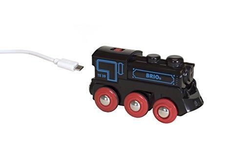BRIO 33599 - Akku Lok mit Mini USB, bunt