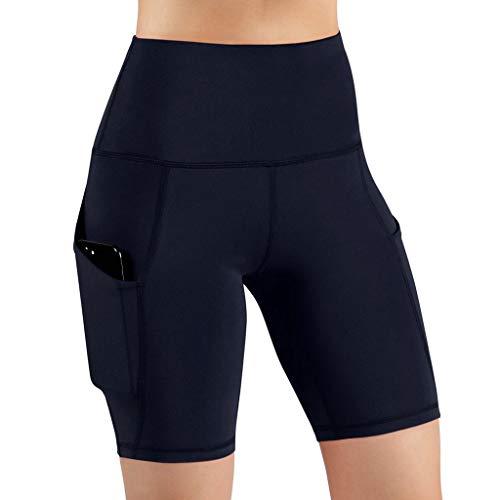 RISTHY Leggins Pantalones Cortos Yoga Correr Deportivos Mujer Mallas Pantalones Push Up Fitness Pantalones de Deporte Cintura Alta Gimnasio Ropa Deportiva Elástico