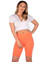 Crazy Girls Ladies Bright Neon Colour Leggings Stretch Plain Gym Legging  Dance Pants ba561ac99d5