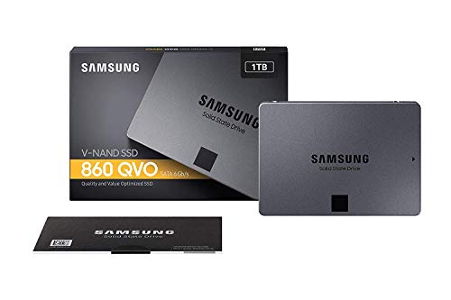 SSD 860 QVO 1 TB 2,5 Zoll Interne SATA SSD (bis zu 550 MB/s) ()
