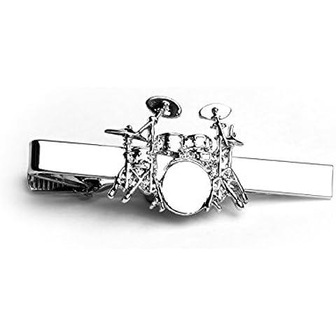 Drum Kit Tie clip–Dettagli incredibili. Grande tamburo insegnanti regalo
