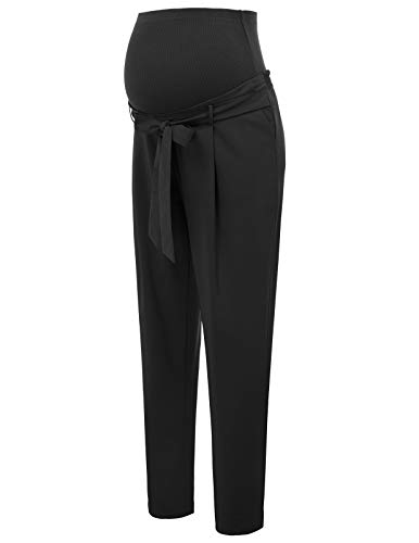 Pantaloni per premaman pantaloni di maternita donna lunga lavorato m nero