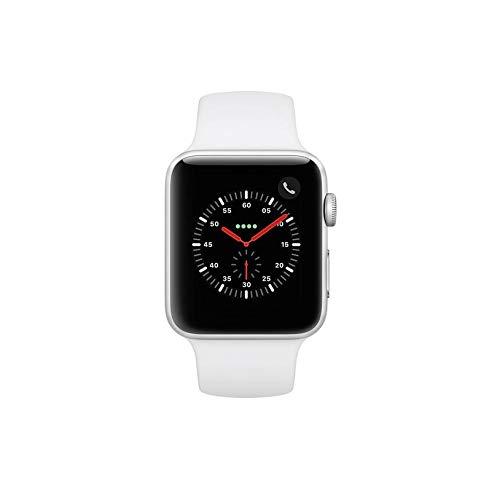 Apple Smartwatch Cellular Silver Aluminum - Apple Watch Series 3 42mm Smartwatch GPS Plus Cellular, Silver Aluminum Case, White Sport Band