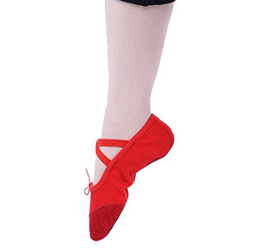 Grandes De Tamanhos Vermelhas sapatos Dayiss E Para De Confortáveis Ballet Adultos Crianças Couro Em WnRH7TxRf6