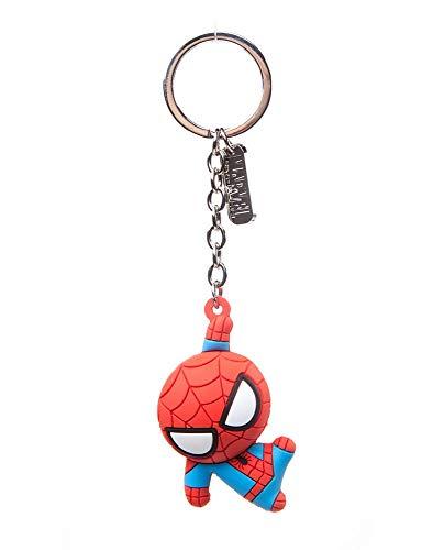 Spider-Man - 3D Spidey - Schlüsselanhänger aus Hart-Gummi | MARVEL Comics Avengers