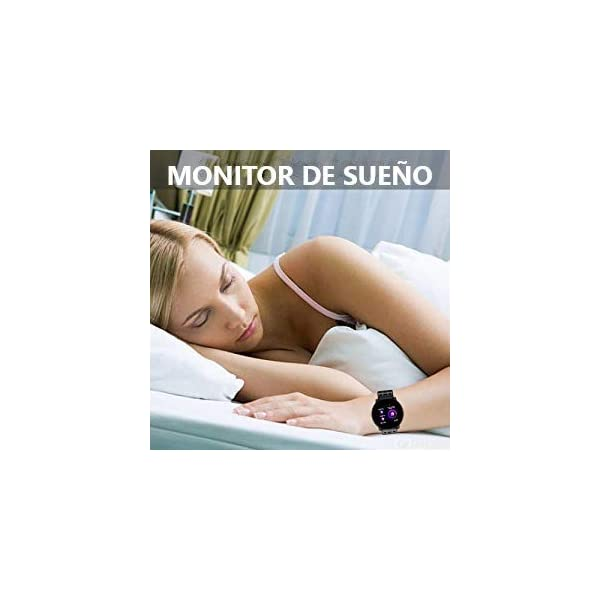 TDOR Smartwatch con Whatsapp Hombre Mujer Reloj Inteligente Android iOS Deportivo, Color Negro 7
