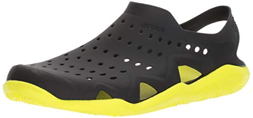 crocs Herren Sandale Swiftwater Wave M 203963 Black/Tennis Ball Green 41-42