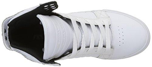Supra Skytop, Scarpe da Ginnastica Donna Blanc (White Croc White)