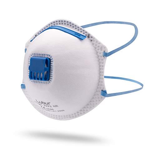 Lubur Atemschutzmaske FFP2 im 5er Set - Hochwertige Atemmaske - Perfekt anpassbare Staubmaske - Mundschutz Maske, Staubschutzmaske effektiv gegen Feinstaub
