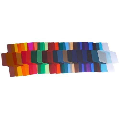 Weryffe Speedlite Gel-Filter, für Kamera, Gelfilter, Blitzlicht, 20 Stück, bunt