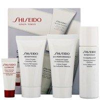 Shiseido Benefiance Cleansing Foam 30ml / Wrinkle Resist 24 Balancing Softener Enriched 30ml / Bio Performance Advanced Super Revitalizing Cream 30ml / Ultimune Power Infusing Concentrate 5ml - Shiseido Benefiance Balancing Softener