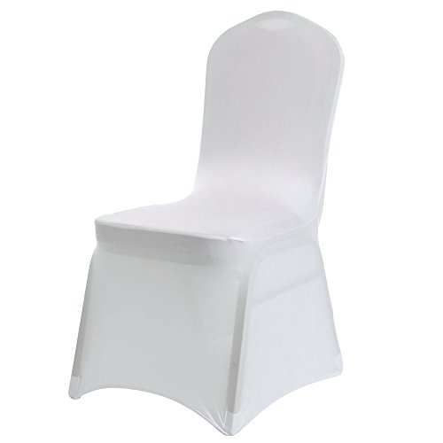 100 White Lycra Spandex Stretch Chair Covers Wedding t Anniversary Party Cover Event Dining Banquet Decoration Slipcovers