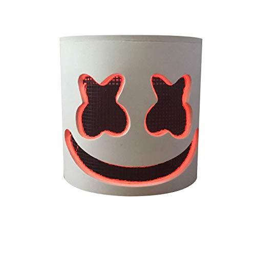 Kldstar DJ-Maske, weiche DJ-Maske für Kinder und Erwachsene - Neuheit Kostüm Party Maske Gummi Latex Vollkopf Maske a (Daft Punk Kostüme Für Kinder)