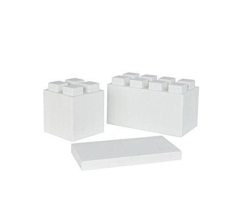 Yellow Full Block Bulk Pack 18 Blocks EverBlock Modular Building Blocks