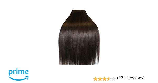 20 inch dark brown col 2 full head clip in human hair full head clip in human hair extensions high quality remy hair 120g weight amazon beauty pmusecretfo Gallery