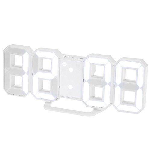 relojes de pared modernos Sannysis despertadores digitales LED (blanco)