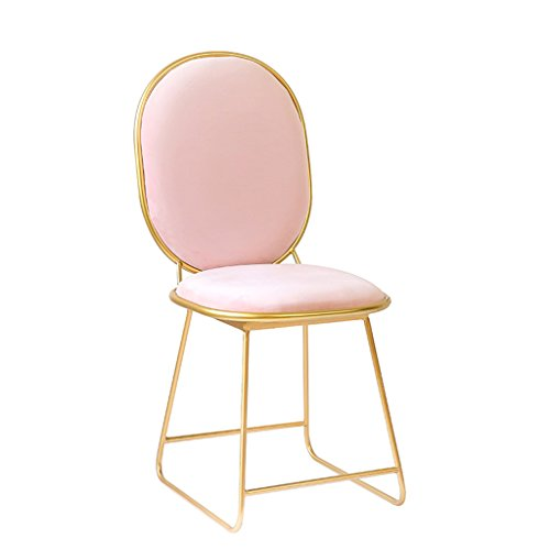 YSDHE Eisen Bar Stuhl Mädchen rosa Schminktisch Stuhl Esszimmerstuhl Couchtisch Stuhl Lounge Sessel Hotel Dekoration hohen Hocker (Size : 40 * 36 * 88CM) (Rosa Antiker Stuhl)
