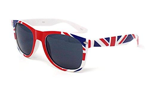 Große Britische Flagge Sonnenbrillen Union Jack Farbige Erwachsene Klassische Sonnenbrille UV400 Hochwertige Brille Stilvolle Retro Mens Womens Unisex Shades