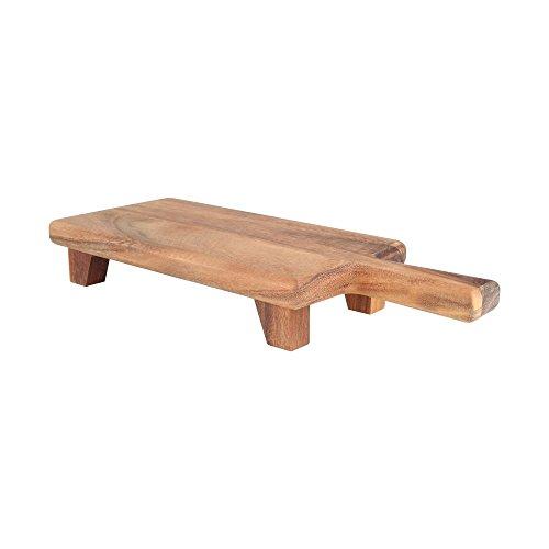 T & G Woodware Baroque à aubes à découper Planche de service de coupe avec pieds Rectangular
