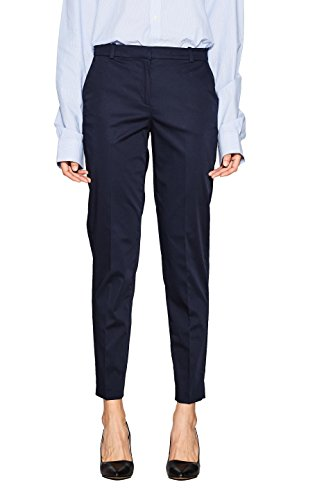 ESPRIT Collection Damen 998EO1B800 Hose, Blau (Navy 400), W36/L30(Herstellergröße: 36)