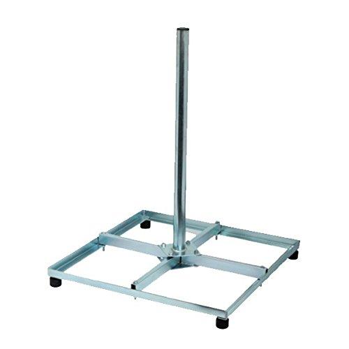 PremiumX Balkonständer Stahl 4x 50 X 50 Holland mit 1m Mast Flachdachständer