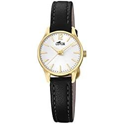 Lotus Watches Reloj Análogo clásico para Mujer de Cuarzo con Correa en Cuero 18574/1
