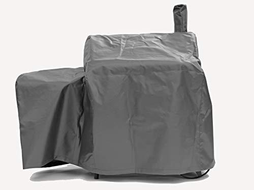 I&O Monster-Trading GmbH I&O BBQ ® Wetterschutzhaube/Abdeckhaube für I&O BBQ ® Smoker Cajun aus LKW-Plane mit Logo