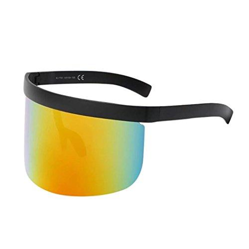 Trada Unisex Vintage Sonnenbrille Retro Oversized Frame Hut Eyewear Anti-Peeping Big Frame Für Herren Frauen Spiegel Reflektierend Brille Big Frame Sonnenbrille Outdoor Brille Weihnachten (G)