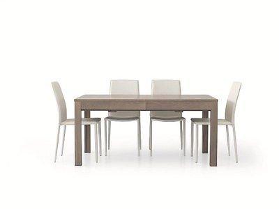 Tavolo Legno Allungabile Moderno.Fashion Commerce Fc560v Tavolo Allungabile Legno Grigio 160 X 90