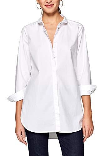 edc by ESPRIT Damen Bluse 128CC1F006 Weiß (White 100) Medium