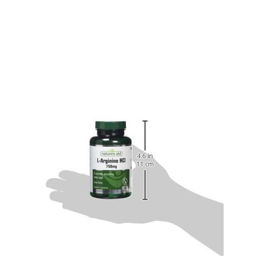 Natures Aid 750mg L-Arginine Tablets – Pack of 90 132230