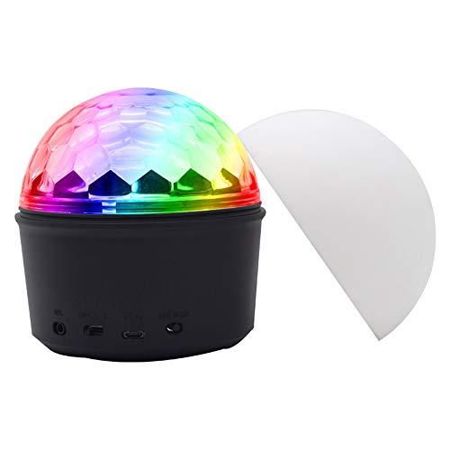 hter, Partei-Ball-Projektor 12W 9 Farben-Bunte Stadiums-Licht-Kristallmagie-Ball-Lampe Mit Bluetooth-Sprecher Usb, Der Drahtlose Telefon-Fernbedienung Auflädt ()