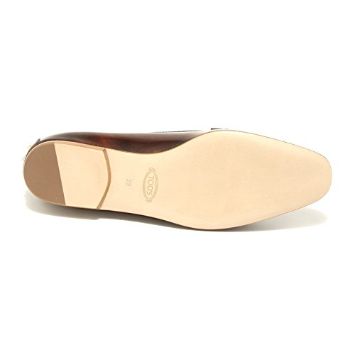 43109 ballerina mocassino TOD 'S scarpa donna loafer shoes women Marrone