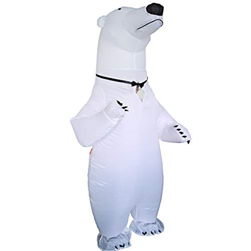 Eisbär Kostüm Aufblasbar - ZMH Lustiger Eisbär Aufblasbare Kostüm Löffel