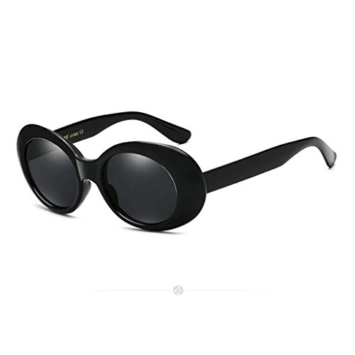 ZALIANG Sonnenbrille-Schutzbrillen-Hip Hop-Sonnenbrille Bunte Retro Katzenauge-Sonnenbrille-ovale Schutzbrillen-runde Mode-Sonnenbrille (Color : A)