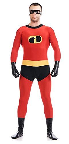 Lovelegis (Größe S) unglaubliche Familie Kostüm für Erwachsene Männer Frauen Unisex - Stretchanzug - Unterhose - Maske - Verkleidung Karneval Halloween Cosplay (Erwachsene Für Halloween-kostüme Unglaublichen)