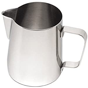 Milk Frothing Jug | IdealHouse 12oz / 350ml Japanese Type Thicken Stainless Steel Conical Pitcher Cup for Barista Cappuccino Espresso Coffee Cafe Latte Art