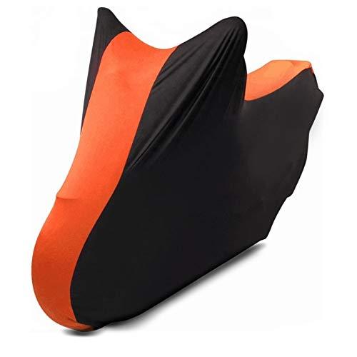 Motorrad-Abdeckung für Harley Dyna Super Glide Custom XL Indoor Schwarz-orange