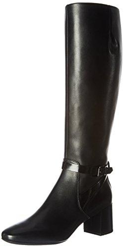 Geox Damen D Audalies Mid C Stiefel, Schwarz (Black), 39 EU (Damen Stiefel Winter Mid)