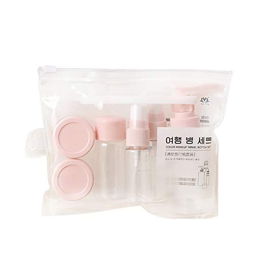 Spray-flasche Set Pack (Tragbare Reisekosmetik Empty Flasche PressemFlaschenflasche Spray Kleine Spray-Topf Kosmetik Unterverfüllanlage Set)
