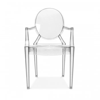 Louis Ghost Clear Transparent Philippe Starck Style Dining Chair