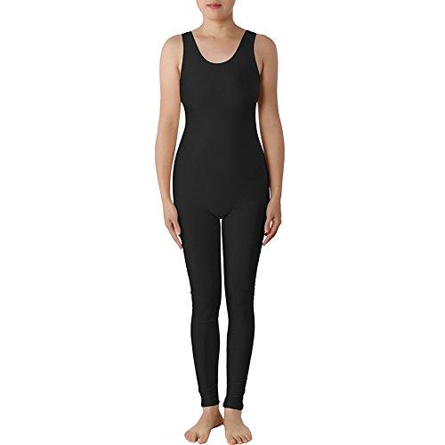 d Lycra Zentai Bodysuit Catsuit Teamwear Dancewear, Schwarz, PUKH-DK31139_BLACK-XL (Leichte Mädchen-gruppe Halloween-kostüme)