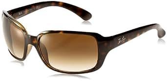 Ray-Ban Unisex Sonnenbrille RayBan, Gr. Large (Herstellergröße: 60), Braun (Gestell: braun (shiny havana), Gläserfarbe: braun verlauf 710/51)